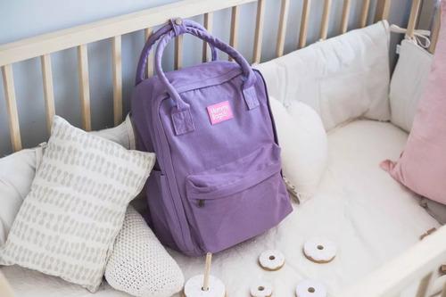 mochila bolso maternal  mommy uma 9 bolsillos impermeable con cambiador bebes + portamamadera térmico