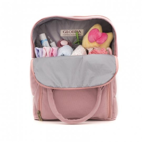 mochila bolso maternal premium pink globba impermeable