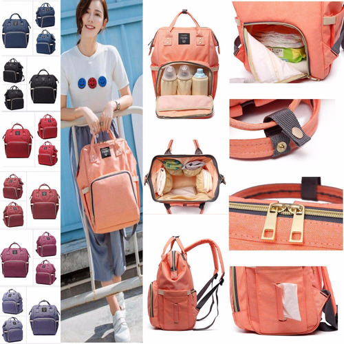 mochila bolso pañalera  cartera maletin para bebé maternidad