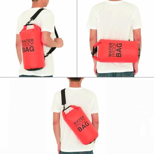 mochila bolso seco impermeable de 15 litros rojo d3051