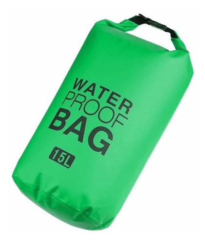 mochila bolso seco impermeable de 15 litros verde d3051