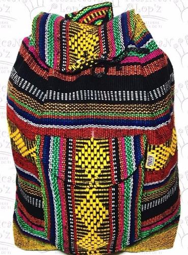 mochila bordada hippie artesanal lote 12 piezas