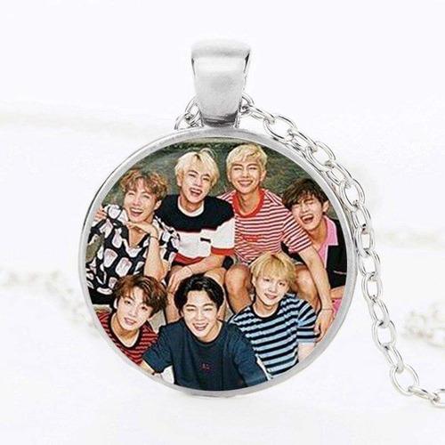 mochila bts + collar exclusivos k-pop corea integrantes