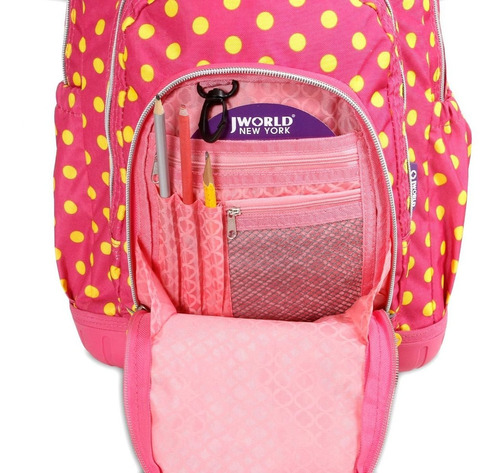 mochila c/ carro + lunchera j-world lollipop