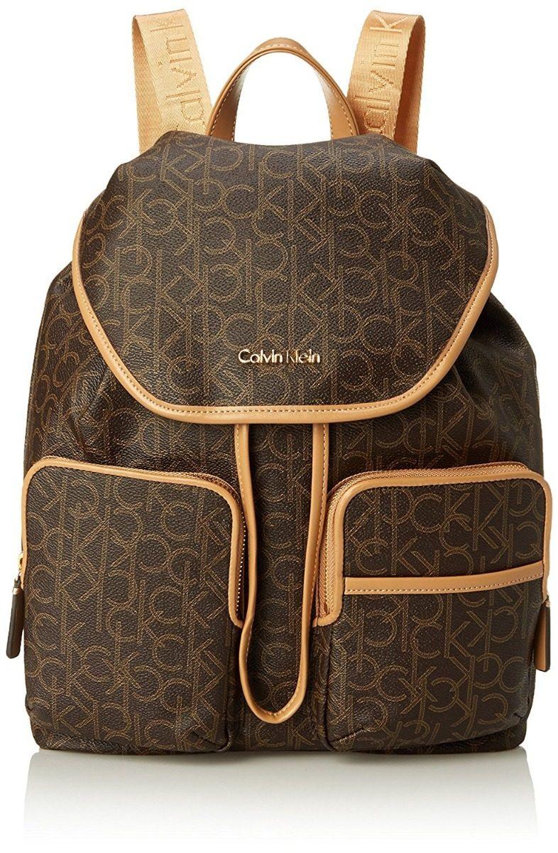 Mochila Calvin Klein Ck Marrom - R  490,00 em Mercado Livre 4bd64c8fe5
