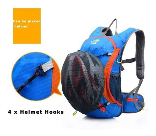 mochila camelback porta casco + bolsa 2l ciclismo,outdoor