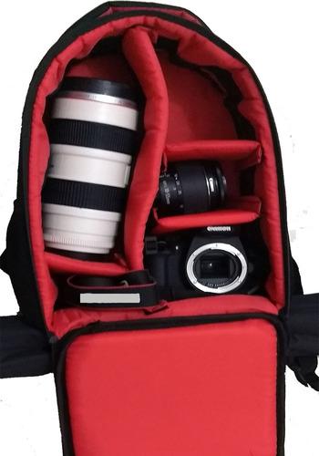 mochila camera fotográfica vmb1 jamili canon nikon sony fui