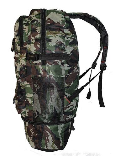 mochila camping camuflada viagem resistente extensão