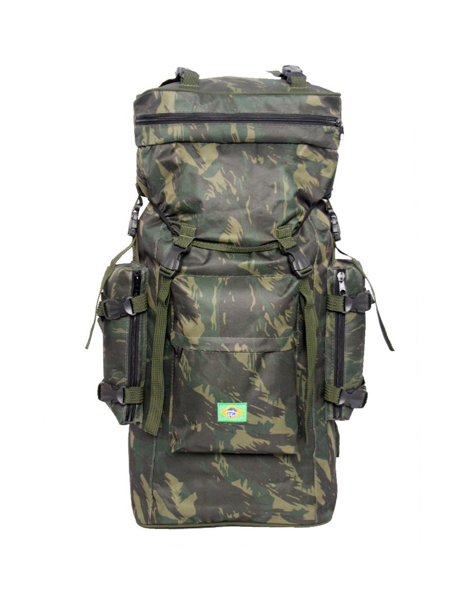 mochila camping e-t militar exército acampamento camuflada. Carregando zoom. 32a82c5f23ae6