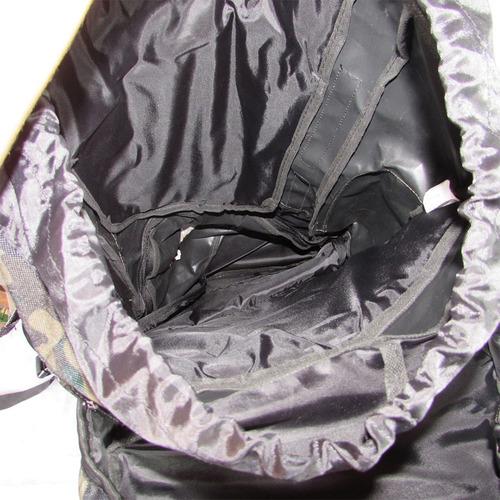 mochila camping militar camuflada 75 litros viagem pesca