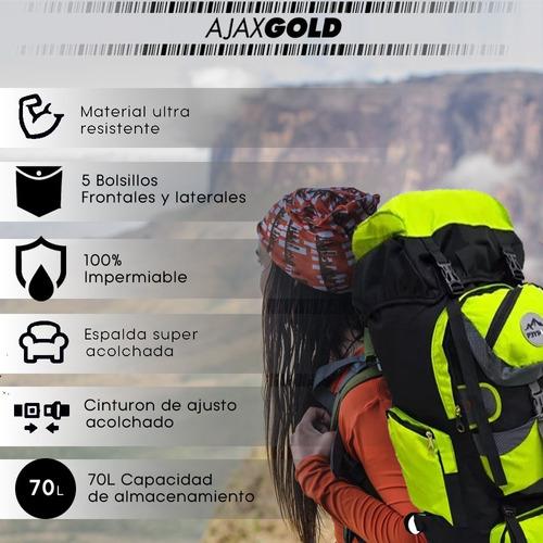 mochila camping mochilero 70 litros peyton viajes trekking