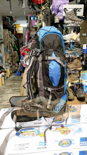 mochila camping mochilero northland kailash 60+10 ap frontal