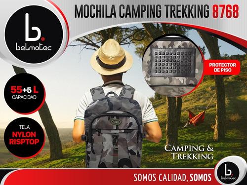 mochila camping trecking viaje grande reforzada colores