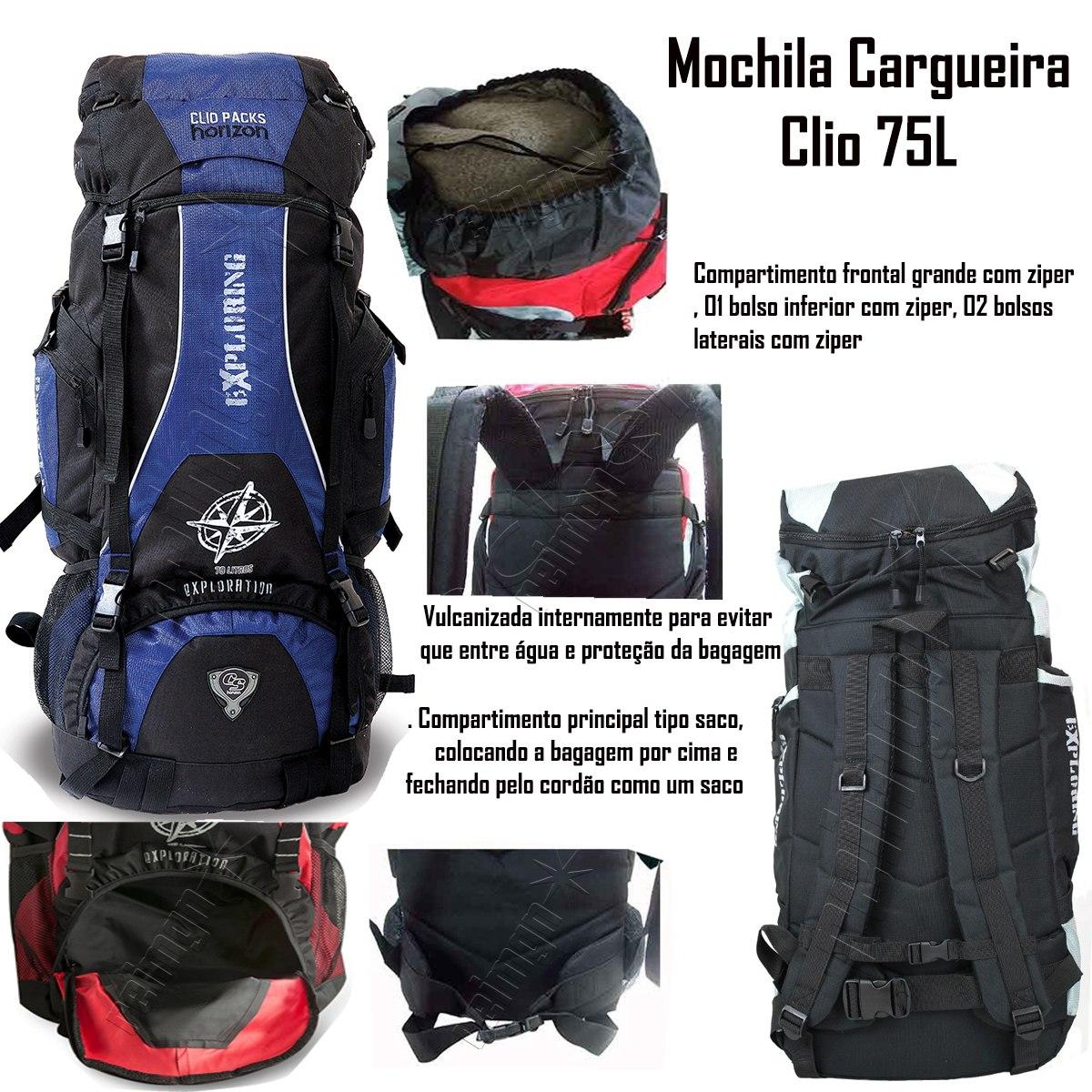 613906fcd mochila camping trilha 75l litros impermeavel mc3102 mc3102. Carregando zoom .