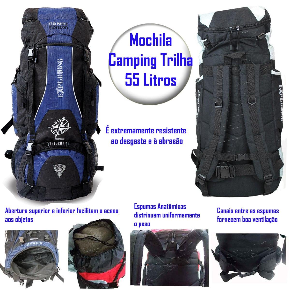 6f99301bd mochila camping trilhas viagem 55l da clio promoção mc3102. Carregando zoom.