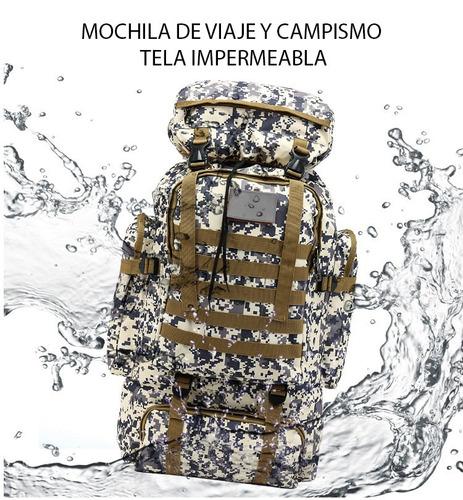 mochila campismo militar multiusos alta resistencia 70 l
