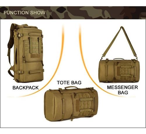 mochila campismo tactica militar 3 en 1 / equipaje de mano