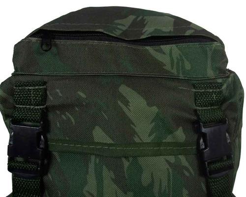 mochila camuflada tipo militar para camping de 50 l