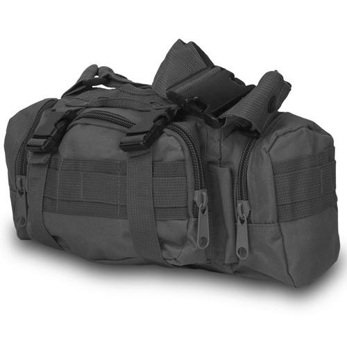 mochila cangurera tactica militar negra d3024