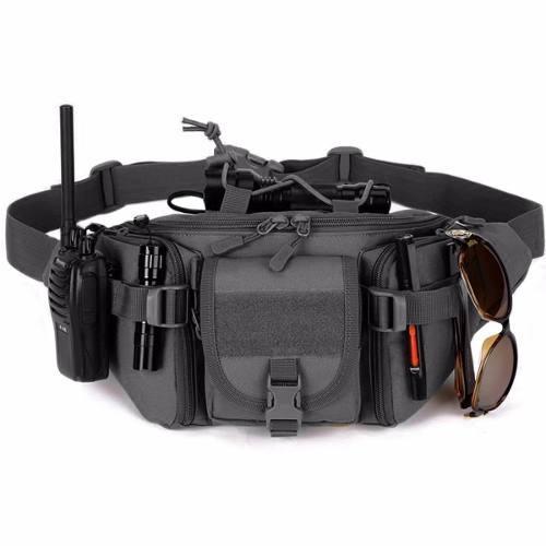 mochila cangurera tactica militar negra d3027