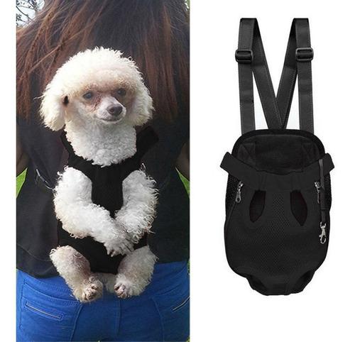 mochila cangurera transportadora para perro x l negro