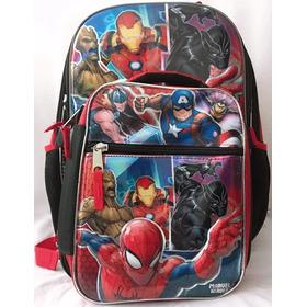 Mochila Capitán América Y Avengers Marvel