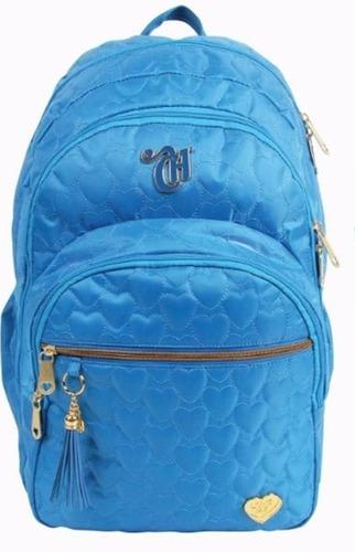 mochila capricho love azul 10969 blue escolar original