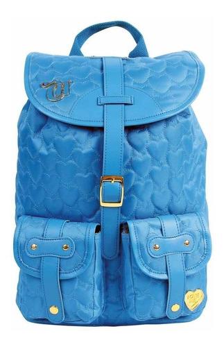 mochila capricho love azul 10970 blue escolar original