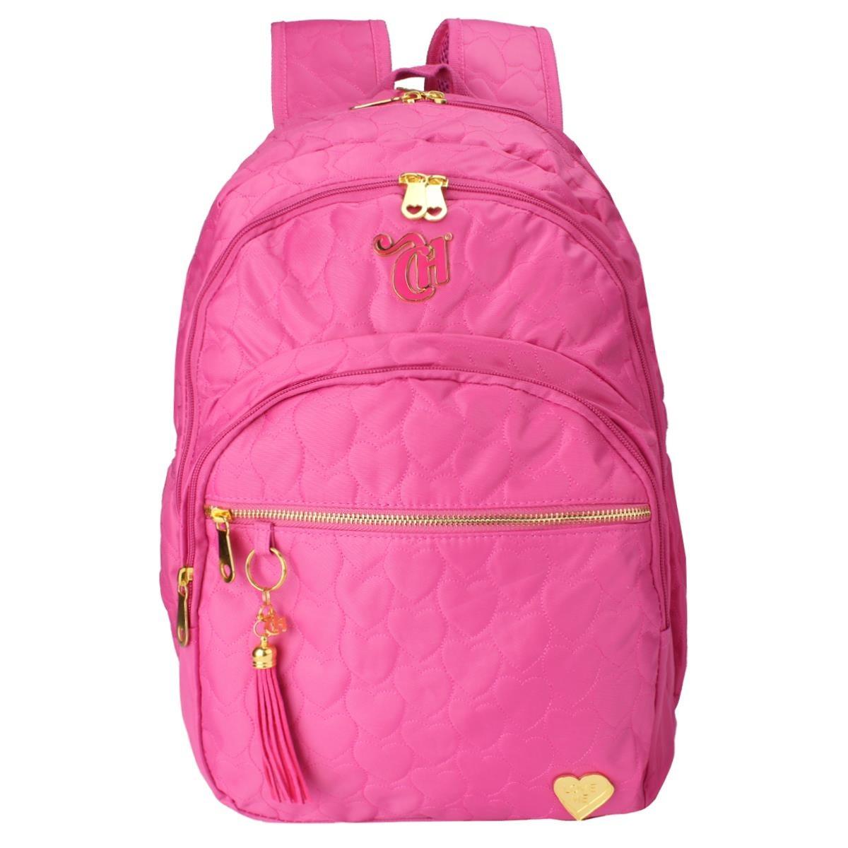 b1b126f91 Mochila Capricho Love Pink, Rosa, G - 10987 - Dmw - R$ 299,99 em ...