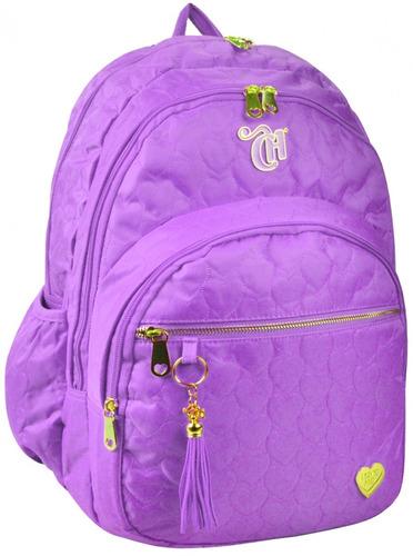 mochila capricho love  purple g dermiwil - 10975