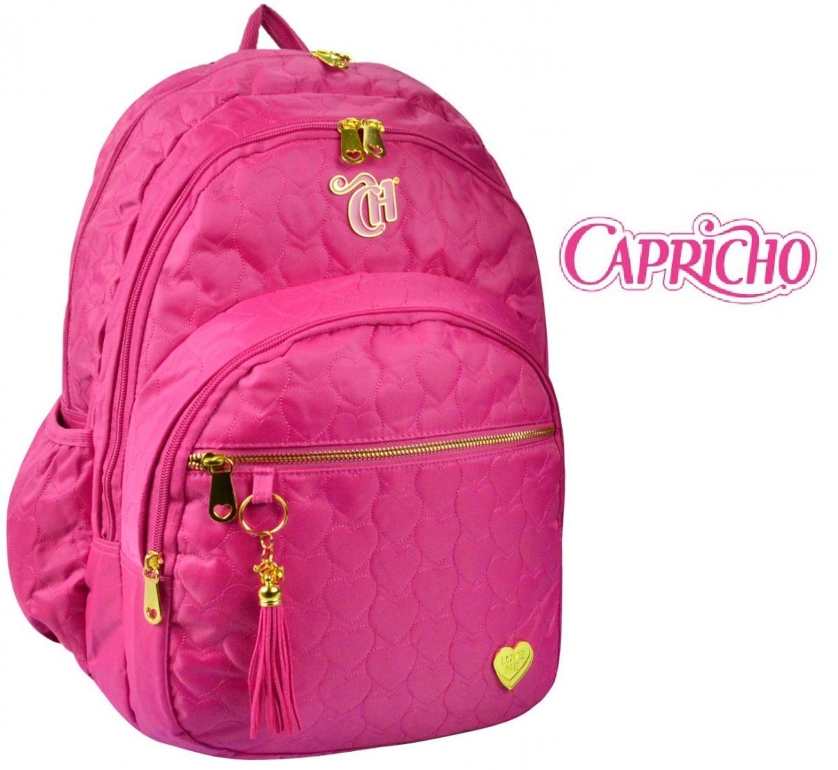 c209c4b26 mochila capricho love rosa pink g rosa 2018 original dmw. Carregando zoom.