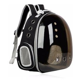 Mochila Cápsula Transparente Portátil Mascota Perro Gato 360