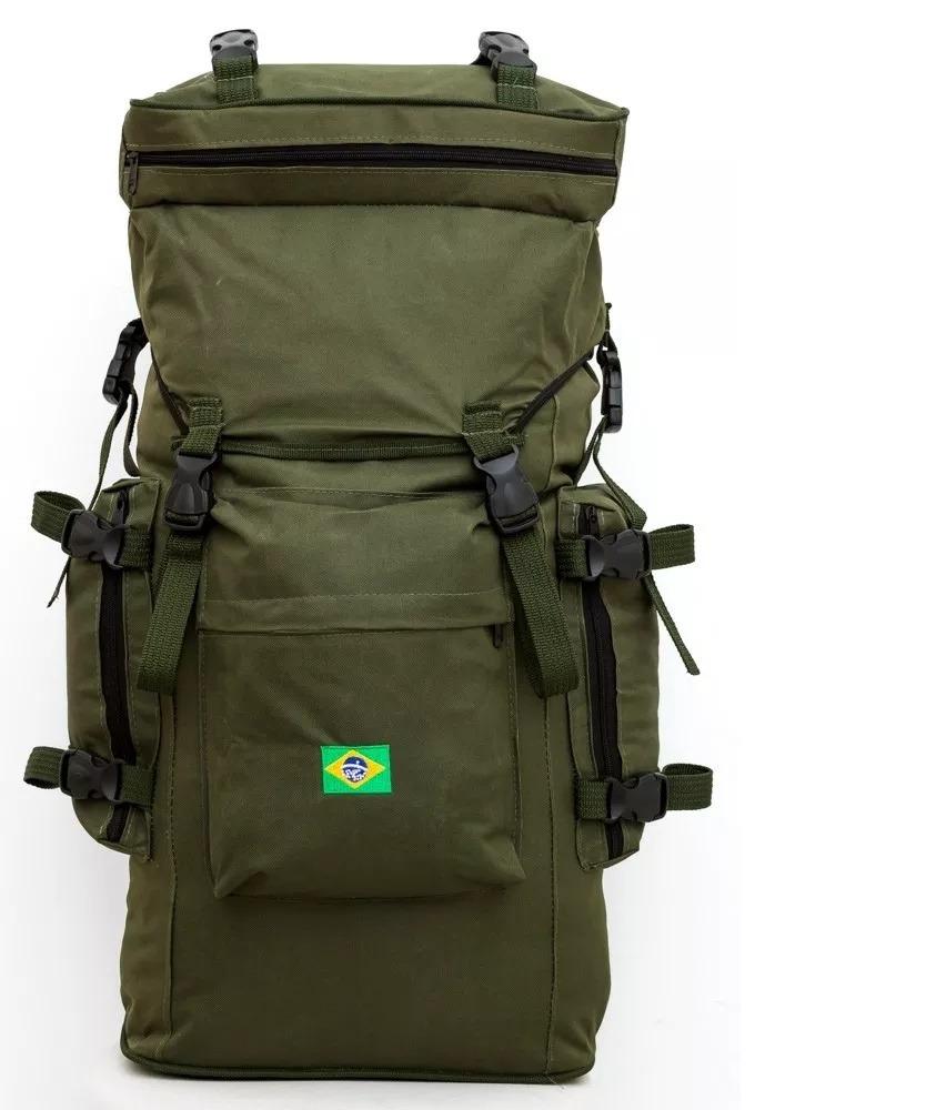 mochila carga militar camping escoteiro acampamento trilha. Carregando zoom. 5d3dd98c4192e