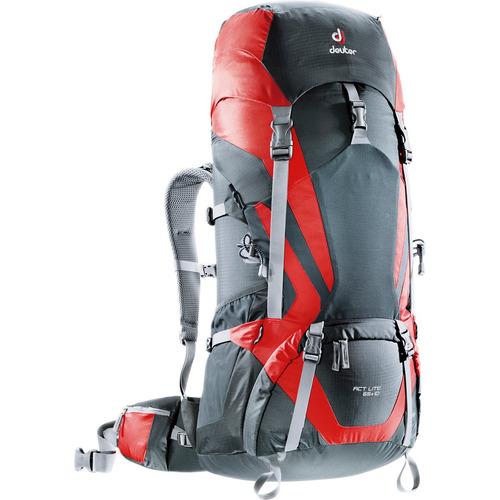 mochila cargueira 65 litros deuter act lite 65+10 vermelho