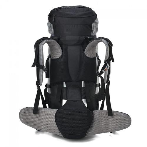 mochila cargueira com capa chuva gyzmo 60l gt nautika preta