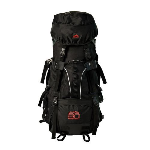 mochila cargueira crampon 80 trilhas e rumos preta trekking
