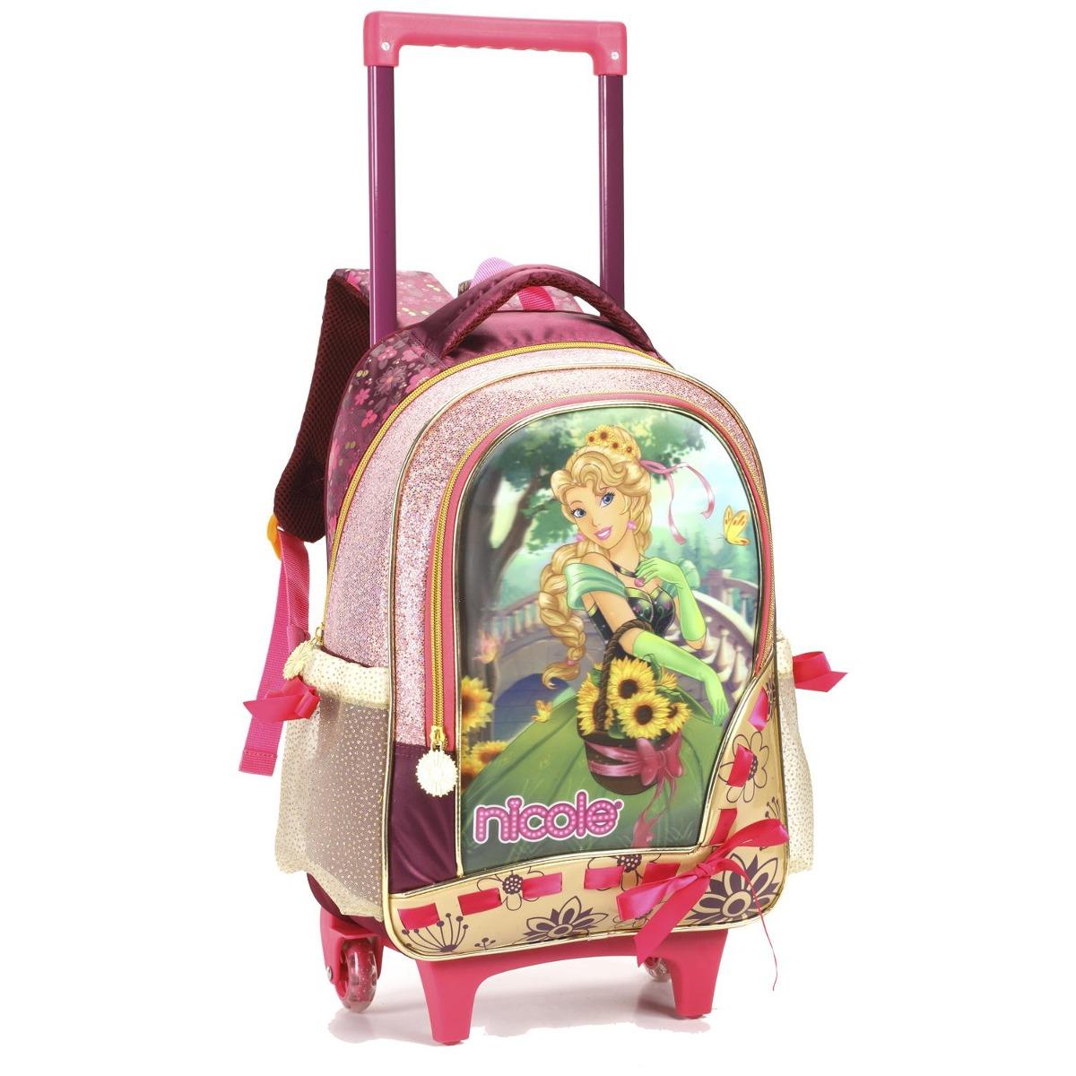 17ed5fc72 Mochila Carrinho Infantil Feminina Princesa 11643 - R$ 148,40 em ...