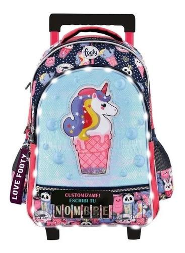 mochila carrito 18p footy  unicornio f1271