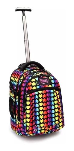mochila carro carrito escolar base reforzada manija telescop