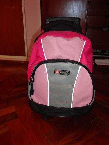 mochila carro escolar deportes - casi nuevo oferta barato