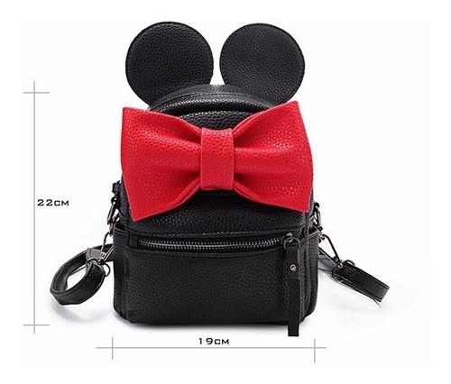 mochila cartera cuero mickey mouse. envió gratis!