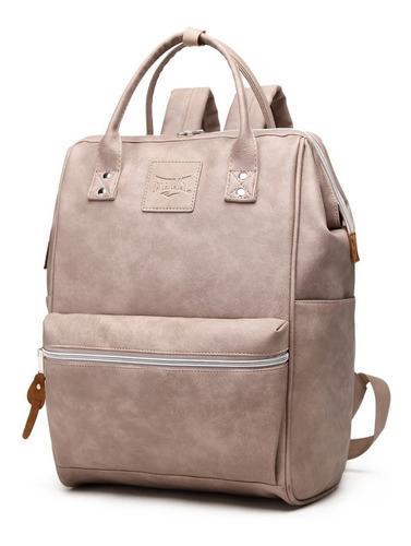 mochila cartera everlast cuero ecologico grande urbana mujer