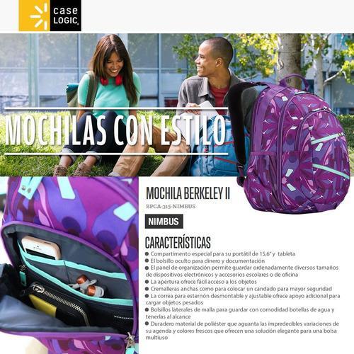 mochila case logic p/notebook 15.6 tablet nimbus mallweb