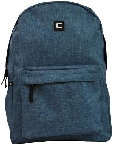 mochila casual despojada poliéster convoy c70000 azul jeans