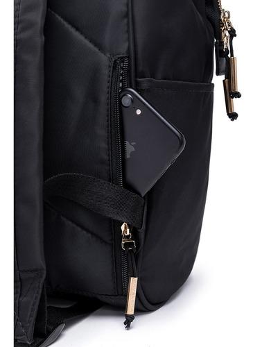 mochila cavalera belly preta moda feminina fashion reforçada