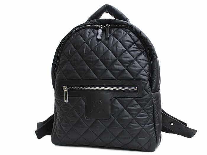 9957d28dd Mochila Chanel Cocoon Preta Com Certificado Original - R$ 1.726,56 ...