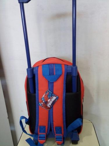 mochila chica con ruedas spiderman