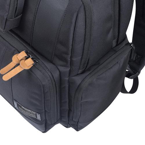 mochila city laptop mochila 653 negro saxoline