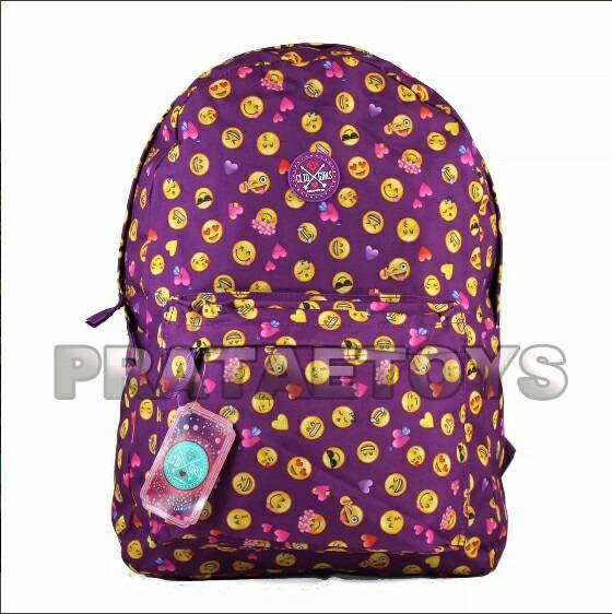 e487187c4 Mochila Clio Escolar Feminina Roxa Emoji Emoticons Carinhas - R$ 35,00 em  Mercado Livre
