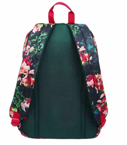 mochila coca-cola feminina floral original escolar grande